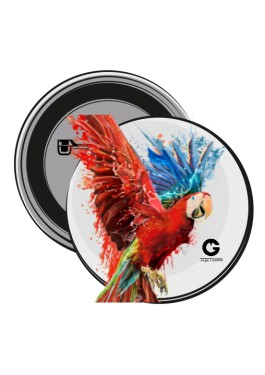 Czerwona Papuga przypinki