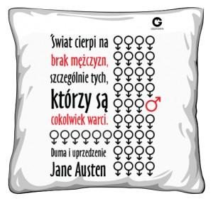 Duma i uprzedzenie poduszka