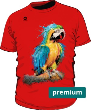 Niebieska Papuga koszulka premium