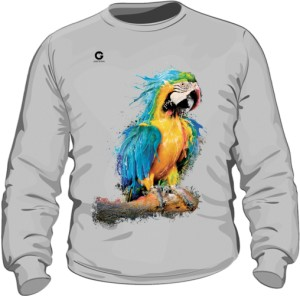 Niebieska Papuga bluza