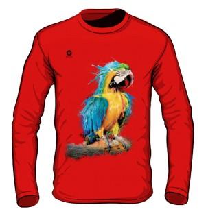 Niebieska Papuga longsleeve