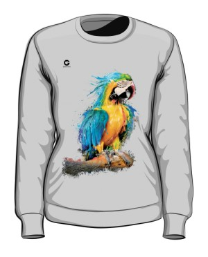 Niebieska Papuga bluza damska