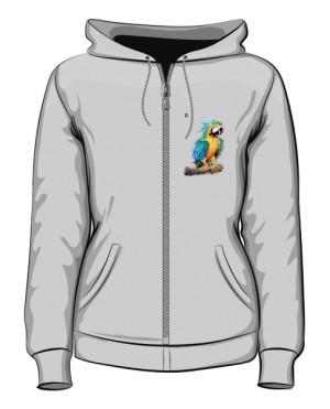 Niebieska Papuga bluza rozpinana