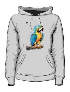Niebieska Papuga bluza z kapturem