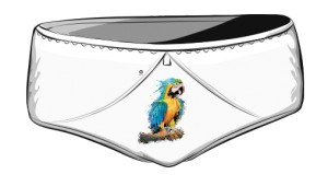 Niebieska Papuga figi damskie