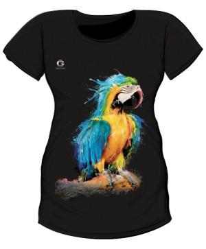 Niebieska Papuga koszulka ciążowa