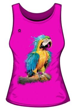 Niebieska Papuga bezrękawnik damski