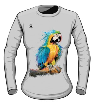 Niebieska Papuga longsleeve damski