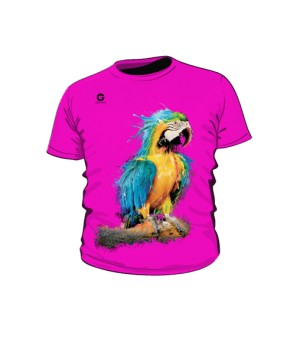 Niebieska Papuga koszulka dziecięca