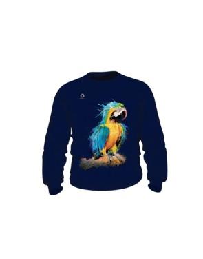 Niebieska Papuga bluza dziecięca