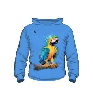 Niebieska Papuga bluza dziecięca kaptur