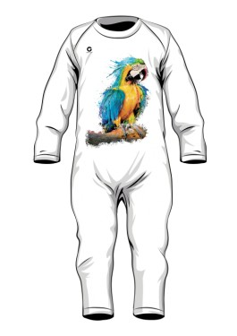 Niebieska Papuga śpioszki