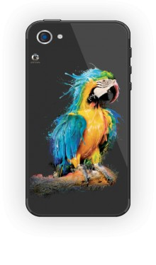 Niebieska Papuga etui iPhone 4 4s