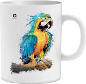 Niebieska Papuga kubek