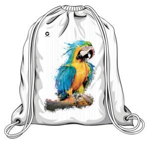 Niebieska Papuga torba worek