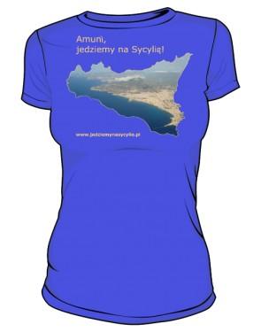 Koszulka damska kolor niebieski
