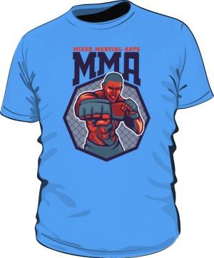 Koszulka MMA FIGHTER niebieska
