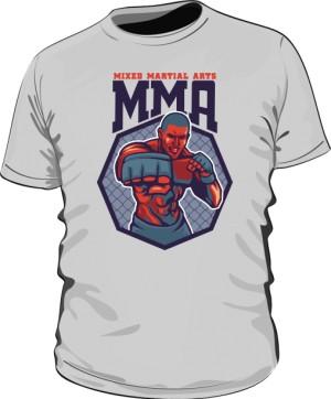 Koszulka MMA FIGHTER szara
