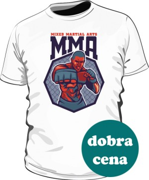 Koszulka MMA FIGHTER biała