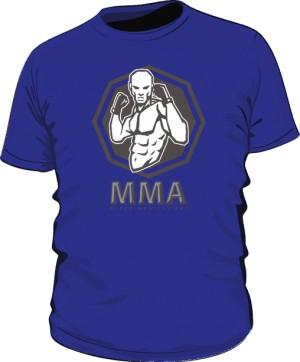 Koszulka MMA niebieska
