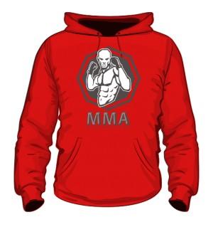 Bluza z kapturem MMA czerwona
