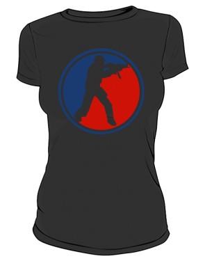 Koszulka damska CS czarna