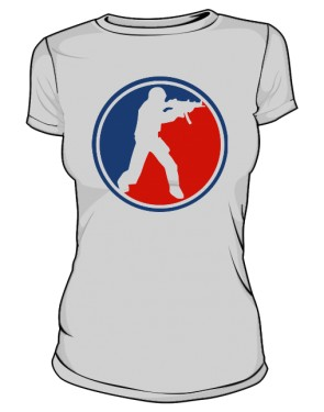 Koszulka damska CS szara