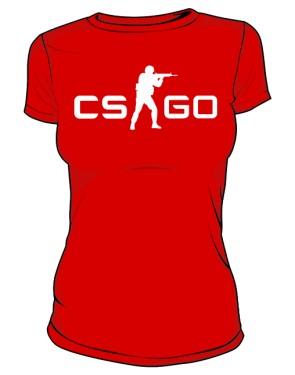 Koszulka damska CSGO czerwona
