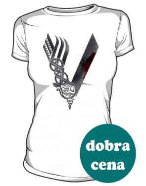 Koszulka damska Vikings logo biała