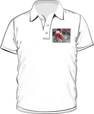 Koszulka polo biała First to fight