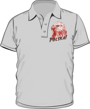 Koszulka polo szara Orzeł polski