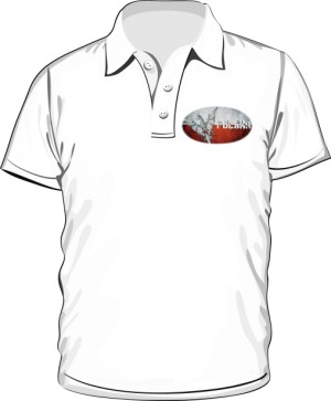 Koszulka polo biała Polska