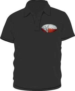 Koszulka polo czarna Polska