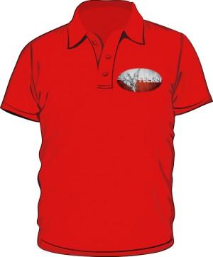 Koszulka polo czerwona Polska