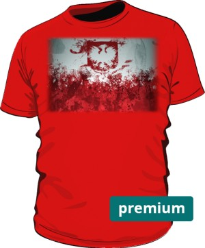 Koszulka premium czerwona Godło