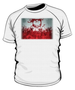 Koszulka sportowa biała Godło