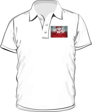 Koszulka polo biała Godło