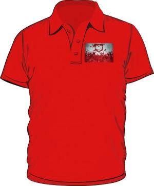 Koszulka polo czerwona Godło