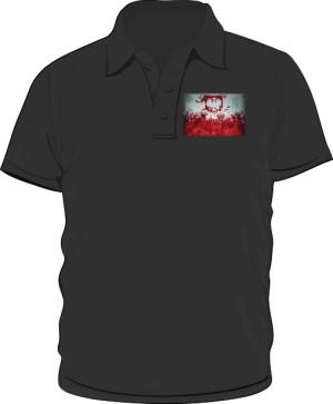 Koszulka polo czarna Godło
