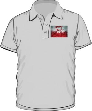 Koszulka polo szara Godło
