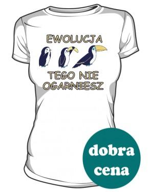 Koszulka damska biała Ewolucja