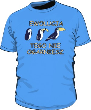 Koszulka męska niebieska Ewolucja