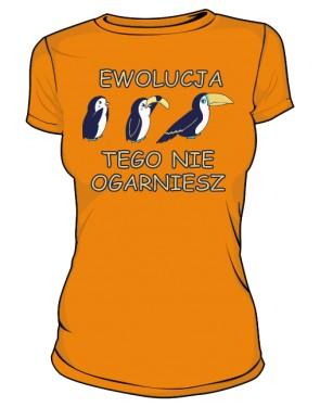 Koszulka damska pomarańczowa Ewolucja