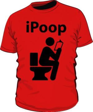 Koszulka męska czerwona iPoop