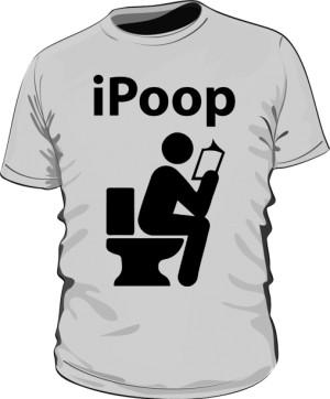 Koszulka męska szara iPoop