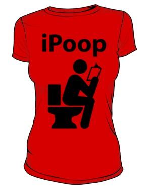 Koszulka damska czerwona iPoop