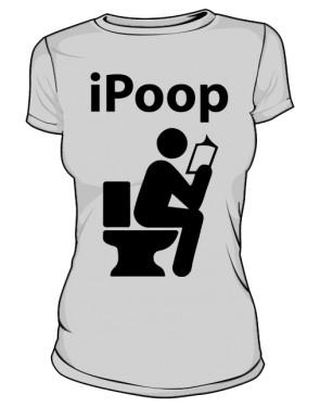 Koszulka damska szara iPoop