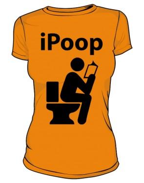 Koszulka damska pomarańczowa iPoop