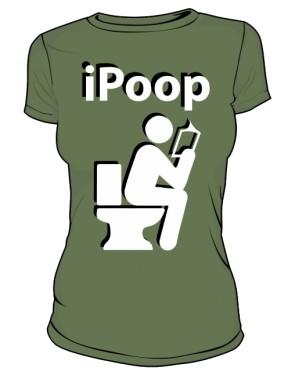 Koszulka damska khaki iPoop