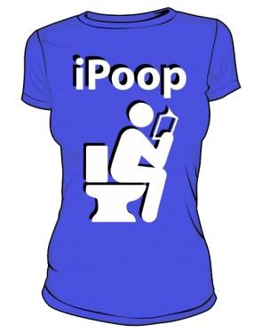 Koszulka damska niebieska iPoop